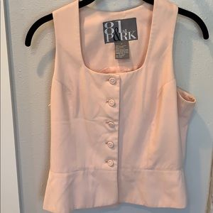 Super cute pink button down summer top size small